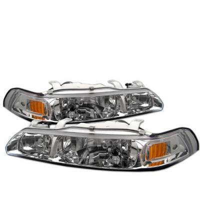 Headlights & Tail Lights - Headlights - Spyder Auto - Acura Integra Spyder Crystal Headlights - Chrome - HD-OP-AI90-1PC-C