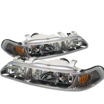 Headlights & Tail Lights - Headlights - Spyder Auto - Acura Integra Spyder Crystal Headlights - Titanium Smoke - HD-OP-AI90-TIT