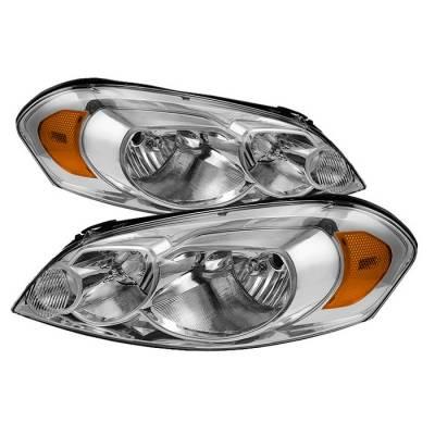 Headlights & Tail Lights - Headlights - Spyder - Chevrolet Impala Spyder Crystal Headlights - Chrome - HD-ZO-CHIP06-AM-C