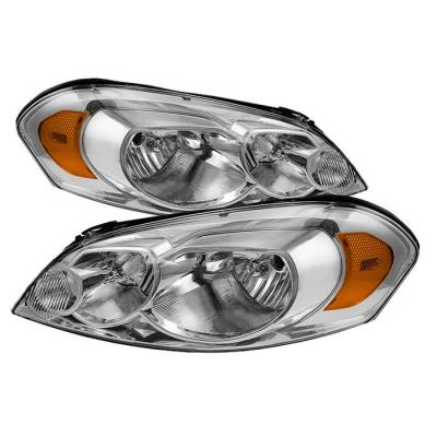 Headlights & Tail Lights - Headlights - Spyder - Chevrolet Monte Carlo Spyder Crystal Headlights - Chrome - HD-ZO-CHIP06-AM-C