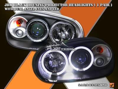 Headlights & Tail Lights - Headlights - Spyder Auto - JDM Black Pro Headlights