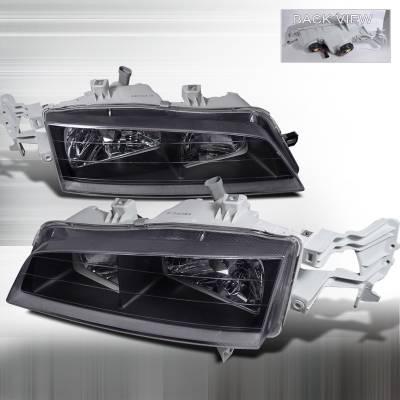 Headlights & Tail Lights - Headlights - Spec-D - Honda Accord Spec-D Crystal Housing Headlights - Black - LH-ACD94JM-APC