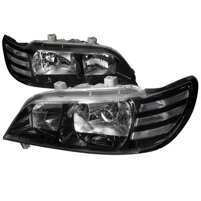 Headlights & Tail Lights - Headlights - Spec-D - Acura CL Spec-D Euro Headlights - Black Housing - LH-CL97JM-DP