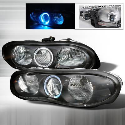 Headlights & Tail Lights - Headlights - Spec-D - Chevrolet Camaro Spec-D Crystal Housing Headlights - Black - LH-CMR98HJM-KS