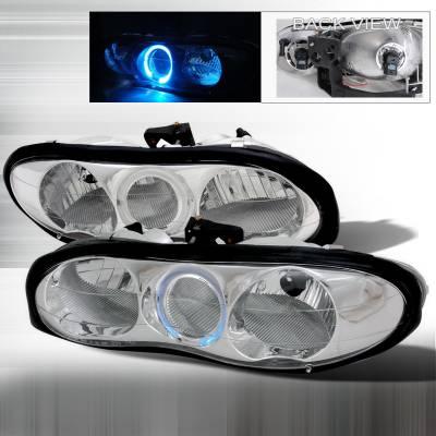 Headlights & Tail Lights - Headlights - Spec-D - Chevrolet Camaro Spec-D Crystal Housing Headlights - Chrome - LH-CMR98H-KS