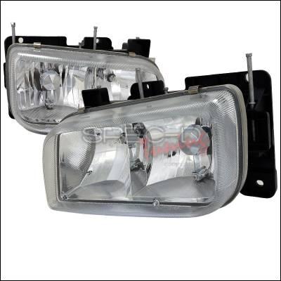 Headlights & Tail Lights - Headlights - Spec-D - Cadillac Escalade Spec-D Euro Headlights - Chrome - LH-ECLD99-APC