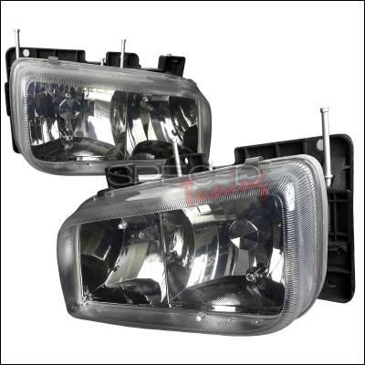 Headlights & Tail Lights - Headlights - Spec-D - Cadillac Escalade Spec-D Euro Headlights Gunmetal - LH-ECLD99G-APC