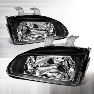 Headlights & Tail Lights - Headlights - Spec-D - Ford E-Series Spec-D Crystal Housing Headlights - Chrome - LH-ECON92-KS