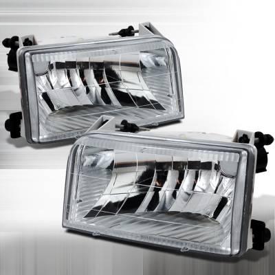 Headlights & Tail Lights - Headlights - Spec-D - Ford F250 Spec-D Crystal Housing Headlights - Chrome - LH-F15092-DP