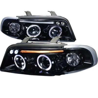 Headlights & Tail Lights - Headlights - Spec-D - Audi A4 Spec-D Projector Headlight Gloss - Black Housing - Smoke Lens - LHP-A496G-TM