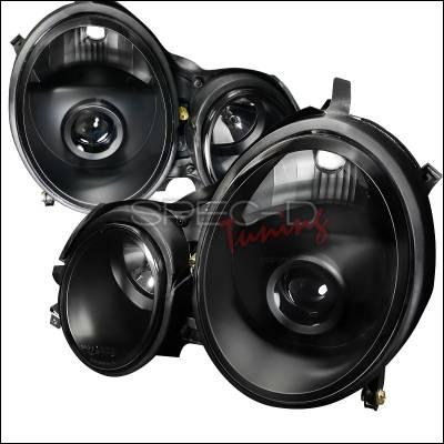 Headlights & Tail Lights - Headlights - Spec-D - Mercedes-Benz E Class Spec-D Projector Headlights - Black Housing - LHP-BW21000JM-APC