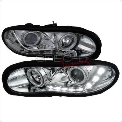 Headlights & Tail Lights - Headlights - Spec-D - Chevrolet Camaro Spec-D R8 Style Projector Headlights - Chrome Housing - LHP-CMR98-8-APC