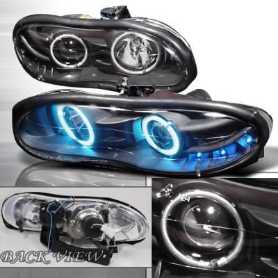 Headlights & Tail Lights - Headlights - Spec-D - Chevrolet Camaro Spec-D  Projector Headlights - Black - LHP-CMR98HJM-KS