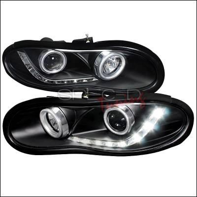 Headlights & Tail Lights - Headlights - Spec-D - Chevrolet Camaro Spec-D R8 Style Projector Headlights - Black Housing - LHP-CMR98JM-8-APC