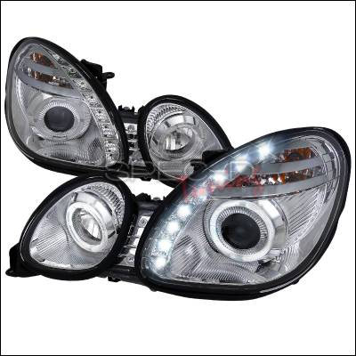 Headlights & Tail Lights - Headlights - Spec-D - Lexus GS Spec-D Halo Projector Headlights - Chrome - LHP-GS30098-RS