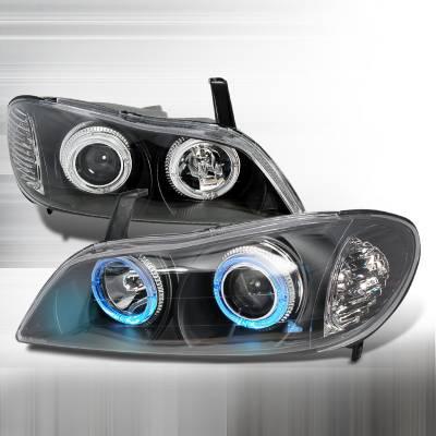 Headlights & Tail Lights - Headlights - Spec-D - Infiniti I-30 Spec-D Halo Projector Headlights - Black - LHP-I3000JM-KS