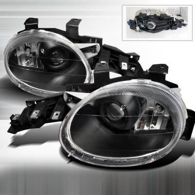 Headlights & Tail Lights - Headlights - Spec-D - Dodge Neon Spec-D Projector Lights - Black - LHP-NEO95JM-APC