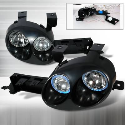 Headlights & Tail Lights - Headlights - Spec-D - Dodge Neon Spec-D Ralli-Style Halo Projector - Black Paintable Housing - LHP-NEO95JMBH