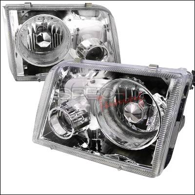 Headlights & Tail Lights - Headlights - Spec-D - Ford Ranger Spec-D Projector Lights - Chrome - LHP-RAN93-APC
