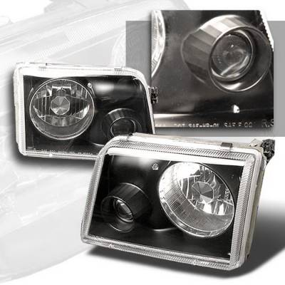 Headlights & Tail Lights - Headlights - Spec-D - Ford Ranger Spec-D Projector Lights - Black - LHP-RAN93JM-APC