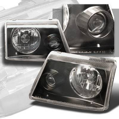 Headlights & Tail Lights - Headlights - Spec-D - Ford Ranger Spec-D Projector Lights - Black - LHP-RAN98JM-APC