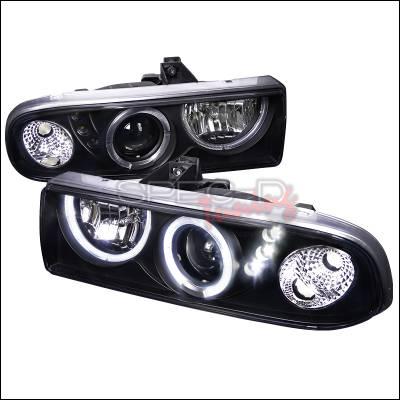 Headlights & Tail Lights - Headlights - Spec-D - Chevrolet S10 Spec-D Projector Headlights - Black Housing - LHP-S1098JM-RS