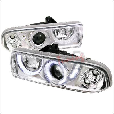 Headlights & Tail Lights - Headlights - Spec-D - Chevrolet S10 Spec-D Projector Headlights - Chrome Housing - LHP-S1098-RS
