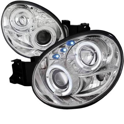Headlights & Tail Lights - Headlights - Spec-D - Subaru WRX Spec-D Projector Headlights - LHP-WRX02-TM
