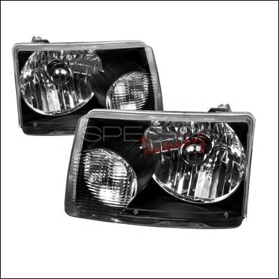 Headlights & Tail Lights - Headlights - Spec-D - Ford Ranger Spec-D Euro Headlights - Black Housing - LH-RAN01JM-RS