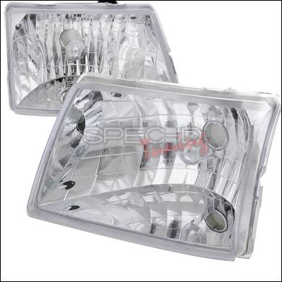 Headlights & Tail Lights - Headlights - Spec-D - Ford Ranger Spec-D Euro Headlights - Chrome Housing - LH-RAN98-ABM