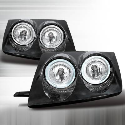 Headlights & Tail Lights - Headlights - Spec-D - Nissan 240SX Spec-D Crystal Housing Headlights - Chrome - LH-S1389BH