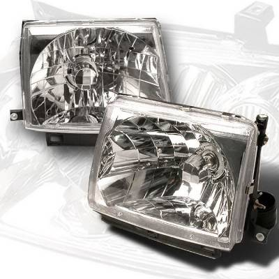Headlights & Tail Lights - Headlights - Spec-D - Toyota Tacoma Spec-D Crystal Housing Headlights - Chrome - LH-TAC97-KS
