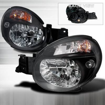 Headlights & Tail Lights - Headlights - Spec-D - Subaru WRX Spec-D Crystal Housing Headlights - Black - LH-WRX02JM-KS