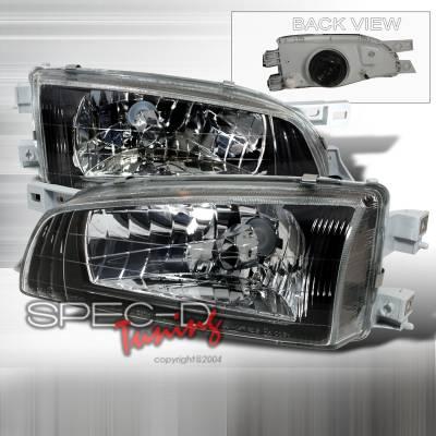 Headlights & Tail Lights - Headlights - Spec-D - Subaru Impreza Spec-D Crystal Housing Headlights - Black - LH-WRX97JM-DP