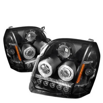 Headlights & Tail Lights - Headlights - Spyder Auto - GMC Yukon Spyder LED Projector Headlights - Black - PRO-ON-GYU07-LED-BK