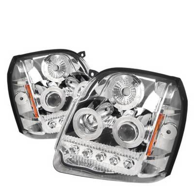 Headlights & Tail Lights - Headlights - Spyder Auto - GMC Yukon Spyder LED Projector Headlights - Chrome - PRO-ON-GYU07-LED-C