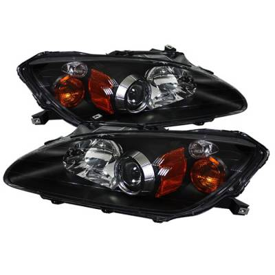 Headlights & Tail Lights - Headlights - Spyder Auto - Honda S2000 Spyder OEM Amber Headlights - Black - PRO-ON-HS2K00-AM-BK