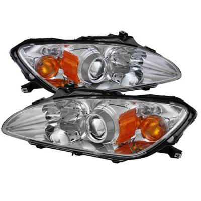 Headlights & Tail Lights - Headlights - Spyder Auto - Honda S2000 Spyder OEM Amber Headlights - Chrome - PRO-ON-HS2K00-AM-C