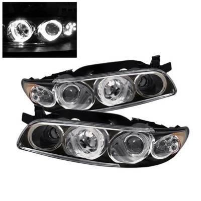 Headlights & Tail Lights - Headlights - Spyder Auto - Pontiac Grand Prix Spyder LED Projector Headlights - 1PC - Black - PRO-ON-PGP97-1PC-LED-BK