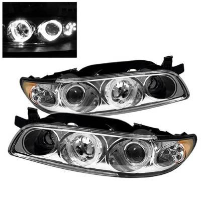 Headlights & Tail Lights - Headlights - Spyder Auto - Pontiac Grand Prix Spyder LED Projector Headlights - 1PC - Chrome - PRO-ON-PGP97-1PC-LED-C