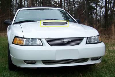 Mustang - Hood Scoops - T-Rex - Ford Mustang T-Rex Billet Hood Scoop Insert - 5 Bars - 20512