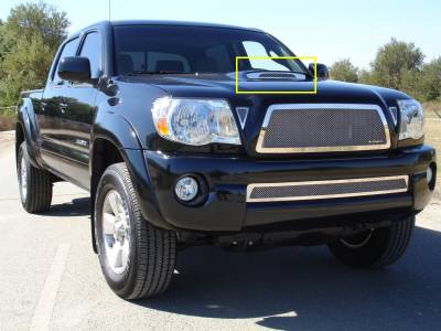Tacoma - Hood Scoops - T-Rex - Toyota Tacoma T-Rex Stainless Steel Hood Scoop - 54897