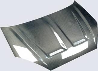 Focus ZX3 - Hoods - Street Scene - Ford Focus Street Scene Vent Style Carbon Fiber Hood - 950-72134