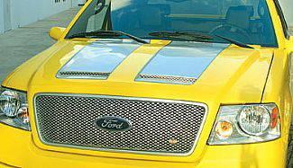 F150 - Hoods - Street Scene - Ford F150 Street Scene Vent Style Fiberglass Hood - 950-73700