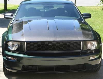 Mustang - Hoods - TruFiber - Ford Mustang TruFiber Carbon Fiber SVT Cobra Hood TC10024-A45