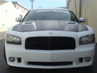 Charger - Hoods - TruFiber - Dodge Charger TruFiber Challenger Hood TF20020-A58