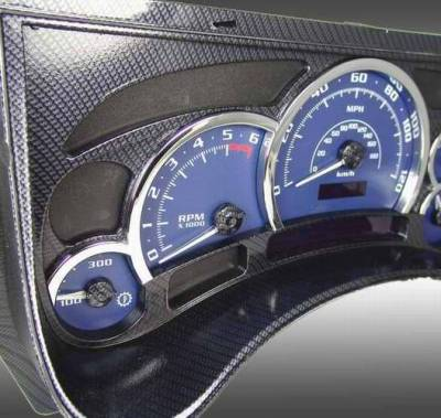 Car Interior - Interior Trim Kits - US Speedo - US Speedo OEM Style Complete Replacement Black Carbon Fiber Lens Rings - LEN 067