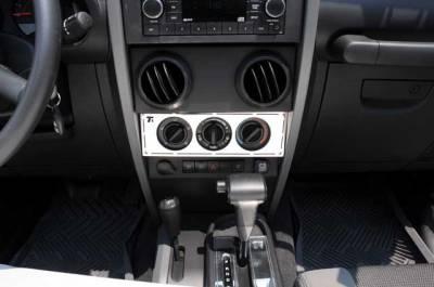 Car Interior - Interior Trim Kits - T-Rex - Jeep Wrangler T-Rex T1 Series Interior Dash Trim - Climate Control Panel - 10488