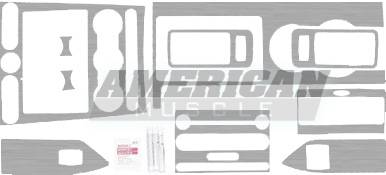 Car Interior - Interior Trim Kits - Steeda - Ford Mustang Steeda Brushed Aluminum Interior Trim Kit - 16167