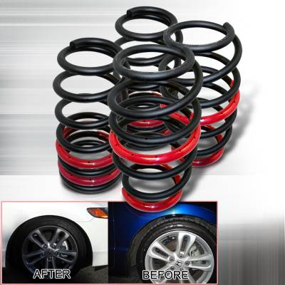 Suspension - Lowering Springs - Spec-D - Honda Civic Spec-D Lowering Springs: - Black - CL-CV06SIBK-SD